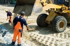 Construction de routes. Image libre de droits