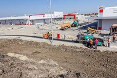 Construction de routes Asphalt Spreader Image libre de droits