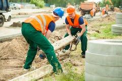 Construction de routes dans la ville photographie stock libre de droits