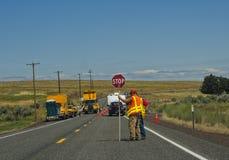 Construction de routes, l'état de Washington Photo stock
