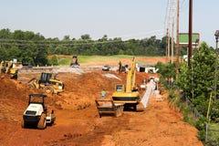 Construction de routes principale Photo libre de droits