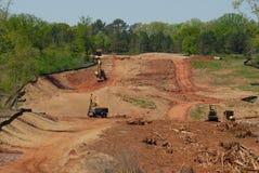Construction de routes rurale image stock