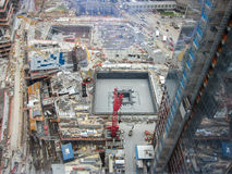 Construction de site de World Trade Center - NYC Photos stock