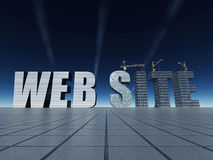 Construction de site Web Images libres de droits