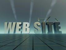 Construction de site Web illustration de vecteur