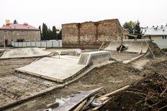 Construction de Skatepark Photographie stock libre de droits