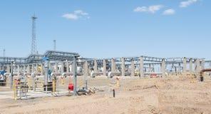 Construction de station de pompage d'huile Photos libres de droits