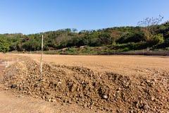 Construction de terrassements de route Photo stock