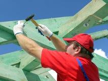 Construction de toit images libres de droits