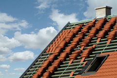 Construction de toit photo stock