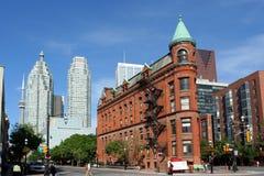 Construction de Toronto Flatiron Photo libre de droits