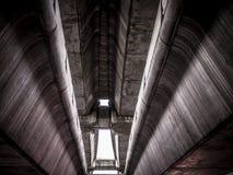 Construction de train de ciel ferroviaire Images libres de droits