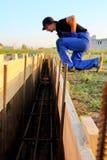 construction de travailleur une base Photos stock