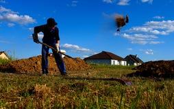 construction de travailleur une base Photo libre de droits