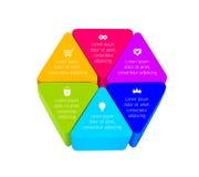 Construction de trois de dimensions de triangle blocs de jouet dans la forme d'hexagone Photo libre de droits
