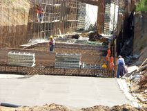 Construction de tunnel photographie stock libre de droits