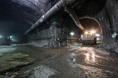 Construction de tunnel images stock