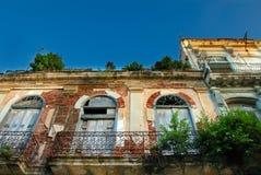 Construction de ville de La Havane vieille photographie stock libre de droits