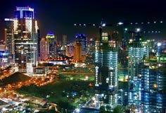 Construction de ville de nuit photos stock