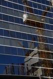 Construction de ville reflétée en glace. Image stock