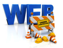 Construction de Web Photos libres de droits