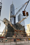 Construction de World Trade Center, Manhattan, New York Photographie stock libre de droits