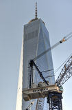 Construction de World Trade Center, Manhattan, New York Photos libres de droits