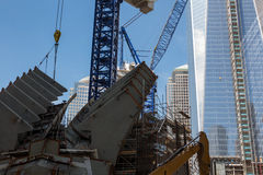Construction de World Trade Center, New York Photo stock