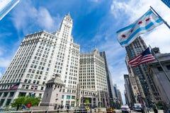 Construction de Wrigley Chicago Photographie stock