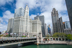Construction de Wrigley Chicago Photos libres de droits