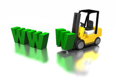 Construction de WWW illustration stock