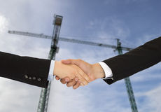 Construction deal Stock Images