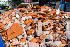 Construction debris at construction site Royalty Free Stock Photography