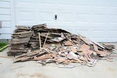 Construction Debris Pile Stock Photo