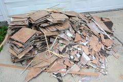 Construction Debris Pile Stock Image
