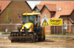 Construction Demo Warning Stock Image