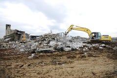 Construction Demolition Stock Photo
