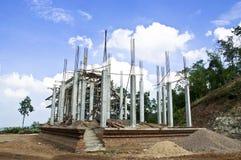 Construction des églises. Images libres de droits