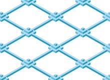 Construction des cubes sous forme de pyramides dans un style isométrique simple Photographie stock
