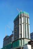 Construction des immeubles Photos stock