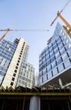 Construction des immeubles de bureaux image stock