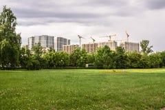 Construction des immeubles modernes dans le secteur de Fili moscou Photo libre de droits