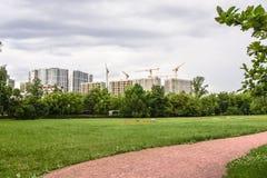 Construction des immeubles modernes dans le secteur de Fili moscou Image stock