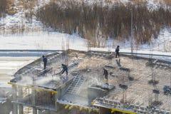 Construction des maisons photos stock