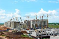Construction des maisons de brique photographie stock
