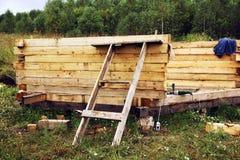 Construction des maisons en bois Photographie stock