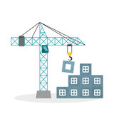 Construction design. crane icon. repair concept, vector illustration. Construction concept with icon design, vector illustration 10 eps graphic Royalty Free Stock Photo