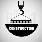 Construction design. crane icon. repair concept, vector illustration. Construction concept with icon design, vector illustration 10 eps graphic Royalty Free Stock Photos