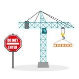 Construction design. crane icon. repair concept, vector illustration. Construction concept with icon design, vector illustration 10 eps graphic Stock Images