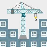 Construction design. crane icon. repair concept, vector illustration. Construction concept with icon design, vector illustration 10 eps graphic Stock Photo